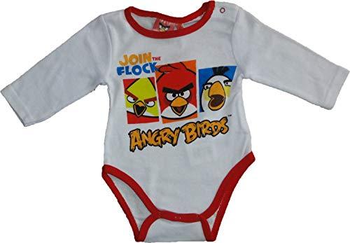 Angry Birds - Body de manga larga para bebé, diseño de rayas naranjas o azules, color azul claro o...