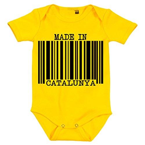 Body bebé Made in Catalunya nacido en Catalunya - Amarillo, 6-12 meses