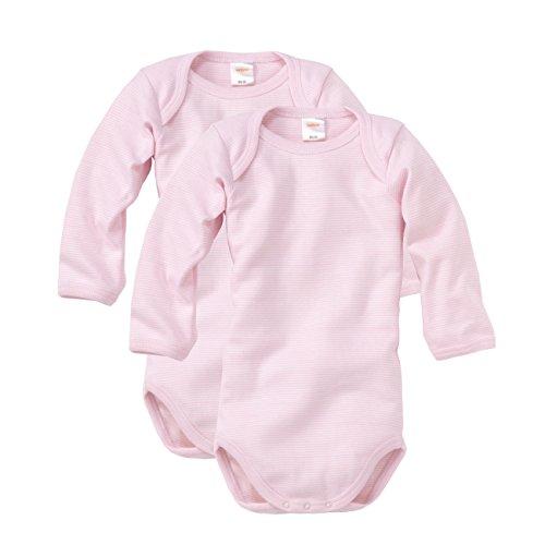 WELLYOU Body Mangas largas para bebés/niños y niñas, Hecho 100% de algodón. Conjunto de 2 Color...