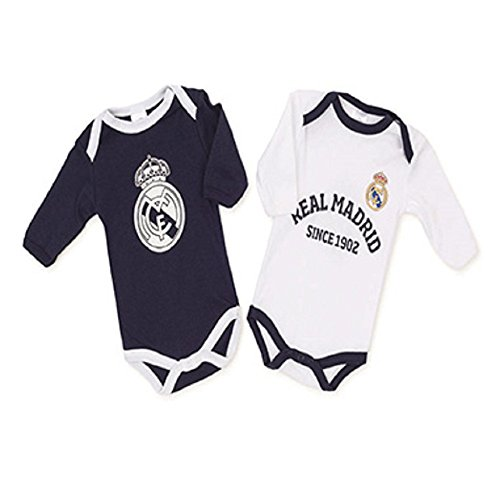 REAL MADRID PACK 2 BODYS BLANCO-AZUL T12 (2 UNID)
