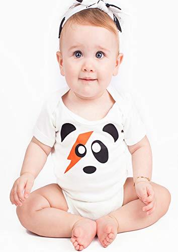 Ziggy Stardust Panda Baby Grow para niños o niñas   Rock n Roll David Bowie Baby Chaleco – Ideal...