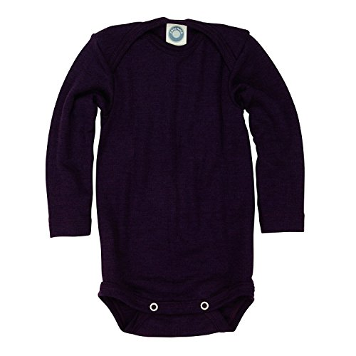 Cosilana baby - Body para bebés de lana/seda de Wollbody® morado 98 cm/104 cm
