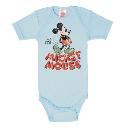Logoshirt - Body para bebé con nombre de Mickey Mouse, color azul claro, talla: 50/56
