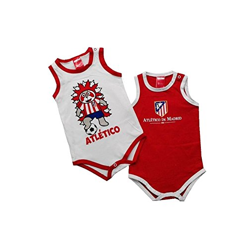 Pack 2 Bodys ATLÉTICO DE MADRID de Tirantes para Bebés (24 MESES)