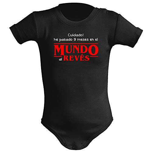 Body bebé unisex Mundo al revés (Stranger things - parodia). Regalo original. Body bebé friki,...
