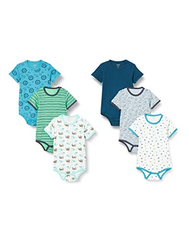 Care 550203 Bodys, Azul (Ombro Blue), 6-9 Months, Pack de 6