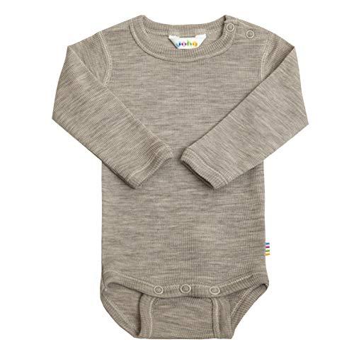 Joha Body de manga larga para bebé o niña, lana de merino y seda Color beige. 68/74 cm