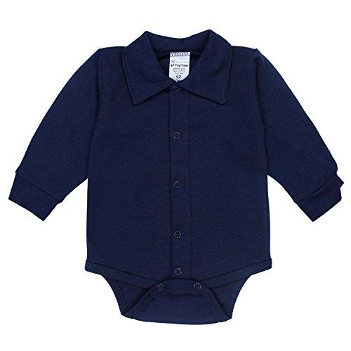 TupTam Body para Bebés de Manga Larga con Cuello, Azul Oscuro, 68