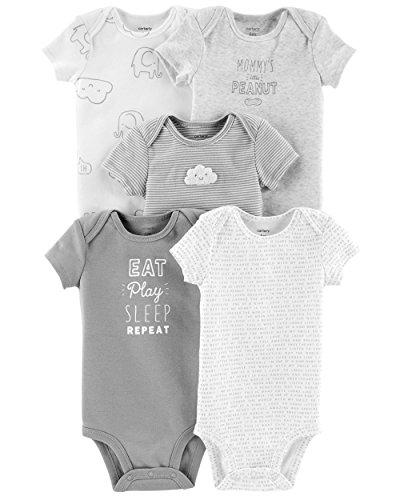 Carter's paquete de 5 enteritos para bebé Eat Play Sleep Repeat, 24 Meses