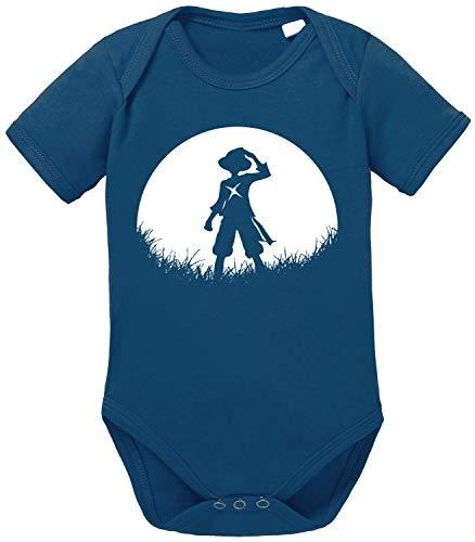 Tee Kiki Sunrise Ruffy One Straw Hat Baby Body de algodón orgánico Piece Proverbs Romper para...