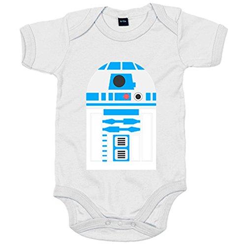 Body bebé parodia R2D2 androide - Blanco, 6-12 meses