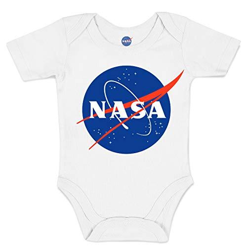Body Bebé NASA Insignia Logo - Official Licensed, 12-18 Meses, Blanco