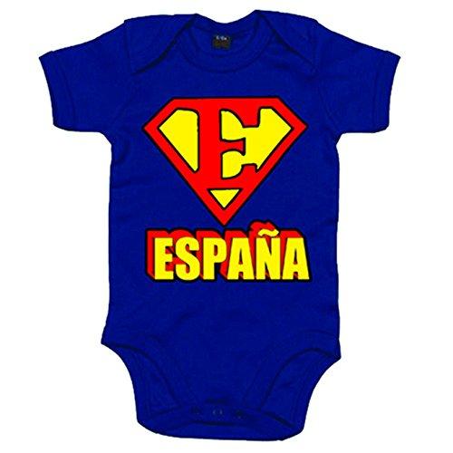Body bebé España Superman logo - Azul Royal, 12-18 meses