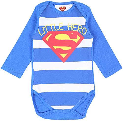 Body Azul y Blanco Superman 6 Meses