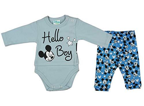 Disney Baby - Conjunto para niño de Mickey Mouse (algodón, talla 56, 62, 68, 74, 80, 86) Modelo 3...
