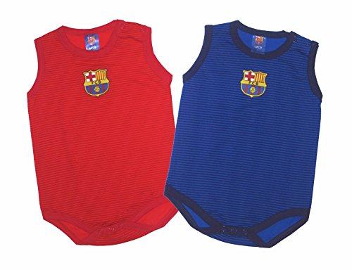 F.C.BARCELONA - Bodies Barça, Color Azul Y Rojo, Talla 24 Meses