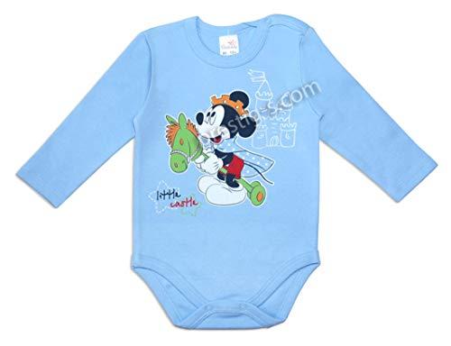 Pelele Plami para bebé, 100% algodón, de manga larga, de una pieza, ropa interior, de Mickey azul...