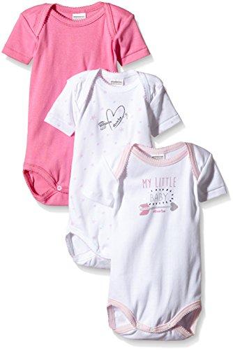 Absorba Underwear OPE MY Little Chic Body, Rosa (Fushia 33), 12 Meses (Pack de 3) para Bebés