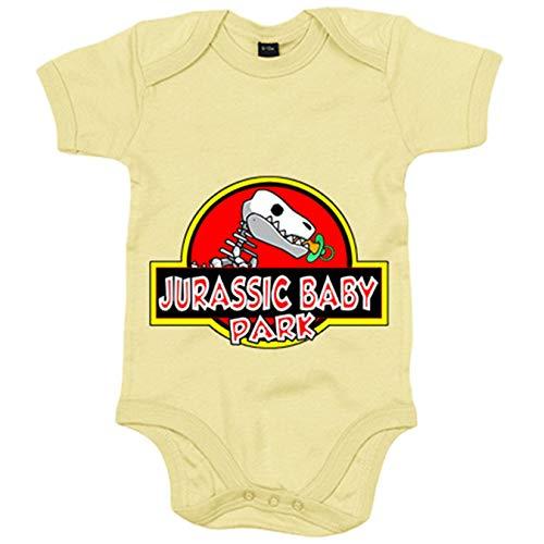 Body bebé parodia Jurassic Baby Park - Amarillo, 6-12 meses