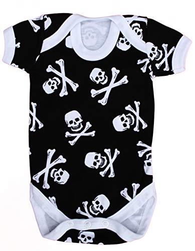 Baby Moo'S UK - Chaleco de bebé para niños o niñas, diseño de calavera y huesos cruzados/body...