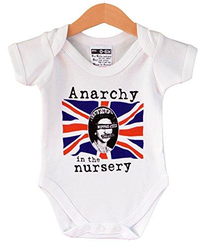 Anarchy in The Nursery - Chaleco de bebé punk. Regalo fresco para un bebé de 6 a 12 meses