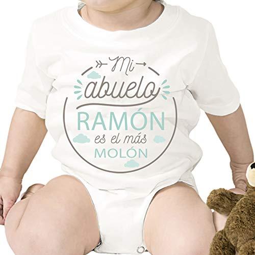 Regalo personalizado: body para bebé 'Abuelo Molón' personalizado con parentesco y nombre