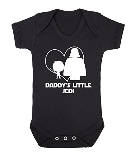 Daddy's Little Jedi Star Wars - Chaleco para bebé (6-12 meses), color negro