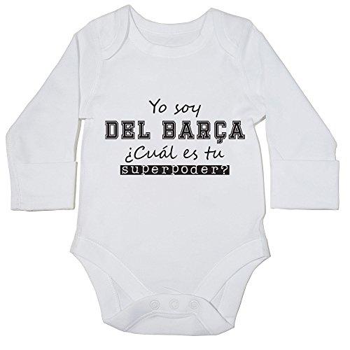 Hippowarehouse Soy del Barça, ¿Cuál es tu Superpoder? Momento Body Manga Larga Bodys Pijama...