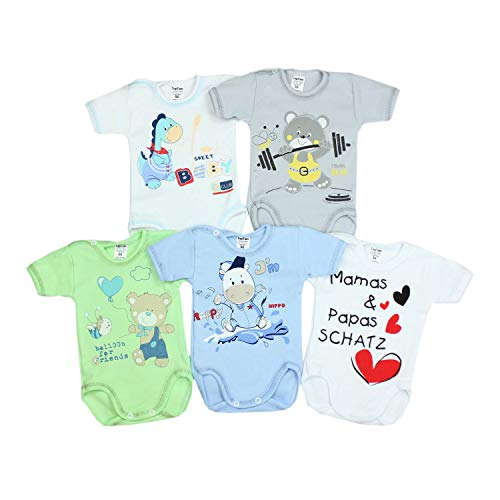 TupTam Body Manga Corta para Bebé Estampado, Pack de 5, Niño 2, 86