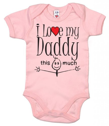 Image is Everything IIE, I Love My Daddy This Much, body para niña Rosa rosa 6 mes