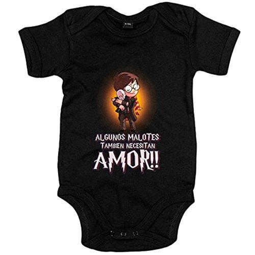 Body bebé parodia de Harry Potter y Voldemort algunos malotes también necesitan amor - Negro,...