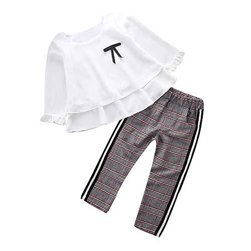 K-youth Conjunto de Ropa para Niñas Ropa Bebe Niño Camiseta de Manga Larga Blusas Niña Top y...