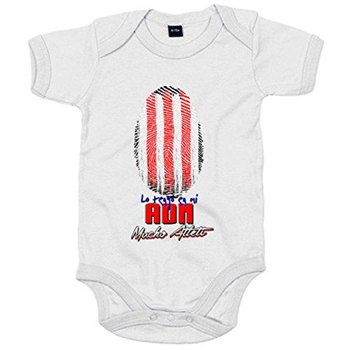 Body bebé lo tengo en mi ADN Atlético fútbol - Blanco, 6-12 meses