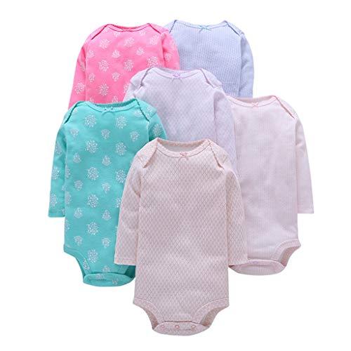 Bebé Body Pack de 6 - Mono Niñas Mameluco Manga Larga Trajes Baño Ropa de Verano Algodón Pelele...