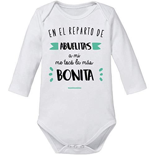 Body Bebé Abuela'En El Reparto De Abuelitas A Mi Me Tocó La Más Bonita' (1 MES, MANGA CORTA)