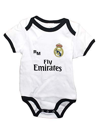 Real Madrid FC Body Niños - Producto Oficial Primera equipación 2018/2019 (3 Meses)