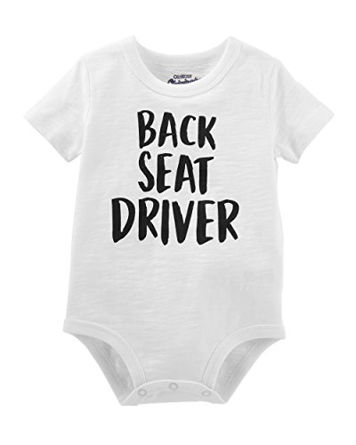 Osh Kosh Baby Graphic Bodysuits, Back sea Mist, 6-9 Months