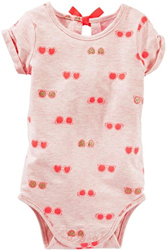OshKosh B'Gosh Baby Girls' Knit Bodysuit 11057113, Multi/Color, 12 Months