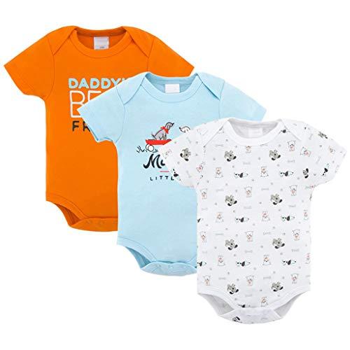 3 Paquetes Bebé Niños Body Recién Nacido Manga Corta Algodón Muchachas Mameluco Traje de Dormir...