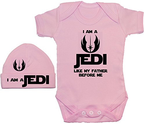 Conjunto de body y gorra para bebé, con el texto: 'I Am a Jedi Like My Father Before Me' de La...