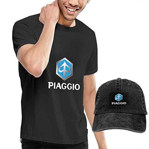 AOCCK Camisetas y Tops Hombre Polos y Camisas, Personalized Piaggio Emblem Logo Tshirts with Hats...