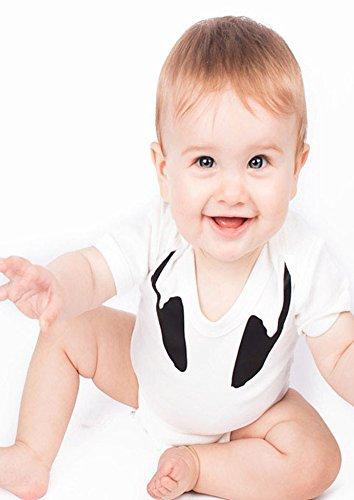 Body de bebé Baby Moo's con diseño de auriculares blanco blanco Talla:3-6 meses
