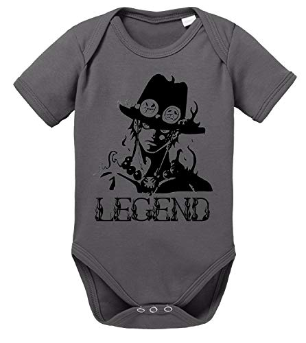 Tee Kiki Ace One Baby Body White de algodón orgánico Beard Piece Proverbs Romper para niños y...