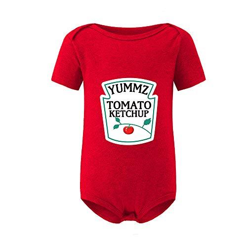 culbutomind Yummz Tomate Ketchup Amarillo Mostaza Rojo y Amarillo Mono Bebé Niño Twins Ropa Bebé...