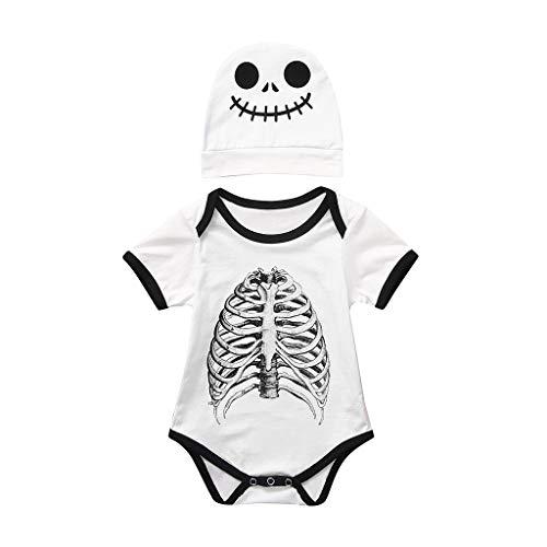 Moneycom - Body Infantil para niños y niñas, diseño de Calavera con Estampado de Calavera, Ideal...