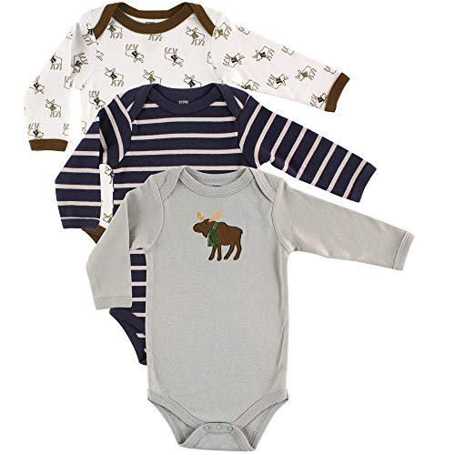 Hudson baby Baby Boys Long Sleeve Cotton Bodysuits, Mouse Pack, 18-24 Months (24M)