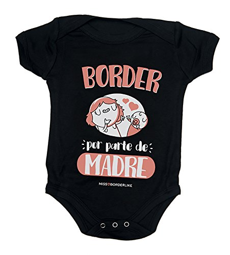 Missborderlike - Body Manga Corta 6 a 12- Border por Parte de Madre