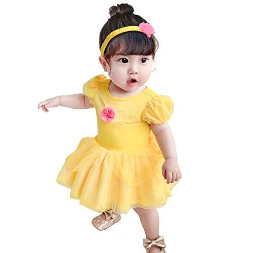 Lito Angels Disfraz de Princesa la Bella y la Bestia para Bebé Niñas Body Mono Mamelucos Onesie...