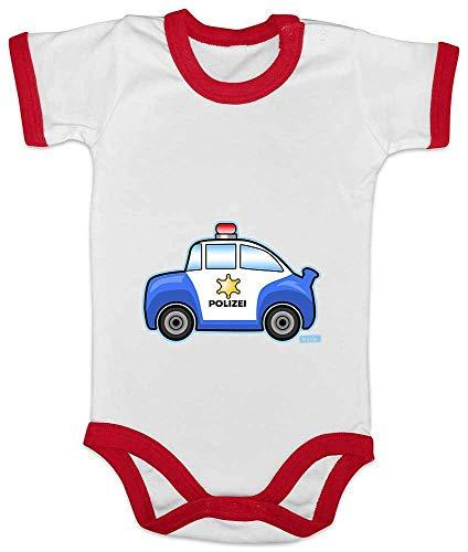 Hariz Baby Body Ringer Policía Coche Policía Incluye tarjeta de regalo rojo blanco/rojo Talla:3-6...