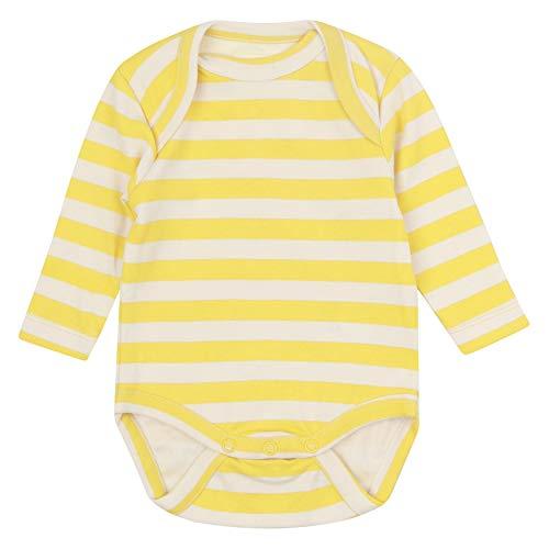 Piccalilly - Body de bebé con rayas amarillas, punto suave, algodón orgánico sin químicos,...